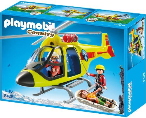 PLAYMOBIL 5428 – Helikopter der Bergrettung   Your #1 Source for Toys and Games