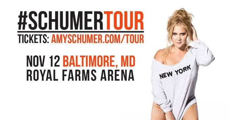 I just entered for a chance to win 2 tickets to Amy Schumer at Royal Farms Arena on November 12th!