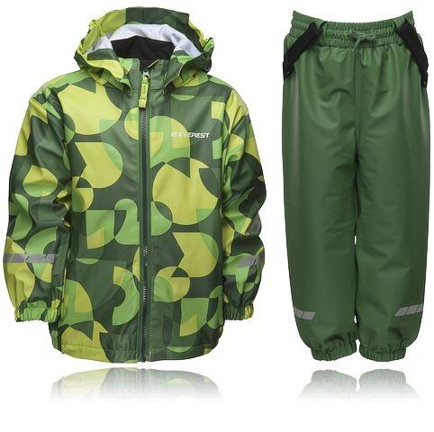 Regnställ för barn, EVEREST K CL F RAIN ST F12. Både jacka och byxor har reflexdetaljer för ökad säkerhet. Se alla barnkläder - http://www.stadium.se/klader/barnklader-86-116