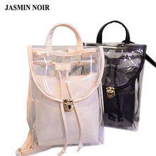 Waterdichte rugzakken tas vrouw 2015 nieuwe Koreaanse Mode transparante transparante kleine PVC back bag College rugzakken schooltas(China (Mainland))
