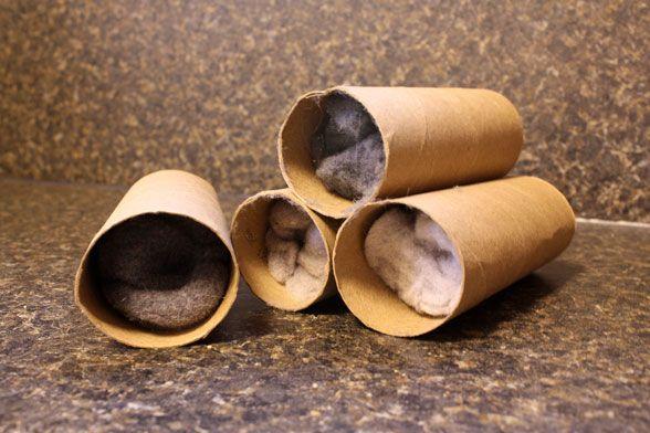Dryer lint fire starter