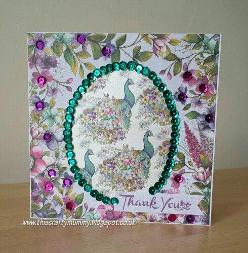 #Trimcraft Dovecraft Bohemian Sequin card http://www.thiscraftymummy.blogspot.co.uk/2015/06/bohemian-sequin-thank-you-card.html?m=1