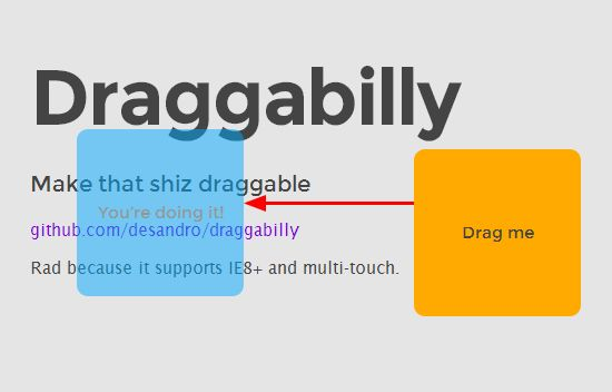 Make Elements On Your Site Draggable  With Draggabilly.js
