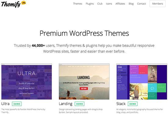 Themify: Temas para WordPress Drag & Drop