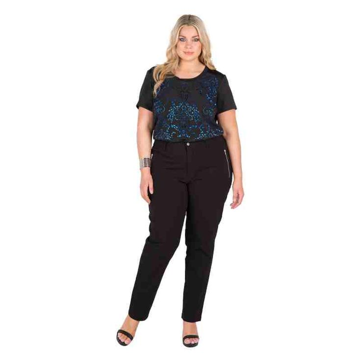 PRE-ORDER - Zip pocket bengaline slims (BLACK) $59.50 http://www.curvyclothing.com.au/index.php?route=product/product&path=95_104&product_id=6741