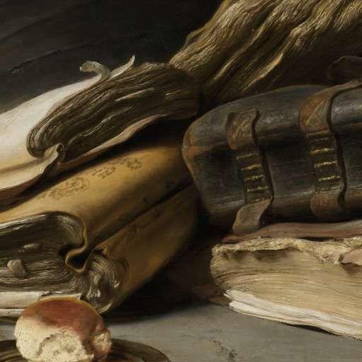 Stilleven met boeken, Jan Lievens, ca. 1627 - ca. 1628 - My first collection-Verzameld werk van Savannah Alosery - Alle Rijksstudio's - Rijksstudio - Rijksmuseum