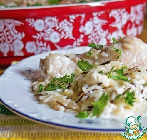Курица с чесноком на рисе от Юрия Рожкова - кулинарный рецепт