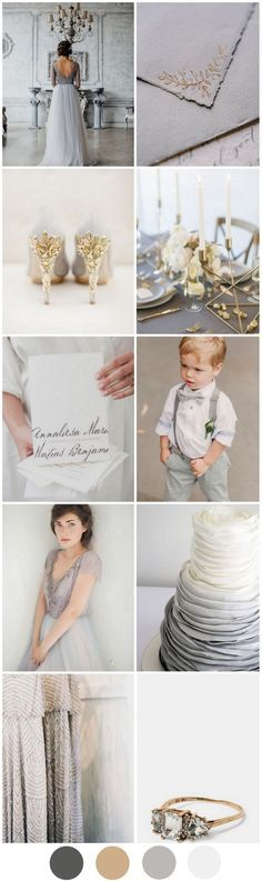 Today we've paired gorgeous grey with glamorous gold and come up with a stunning minimal wedding theme suitable for any season!