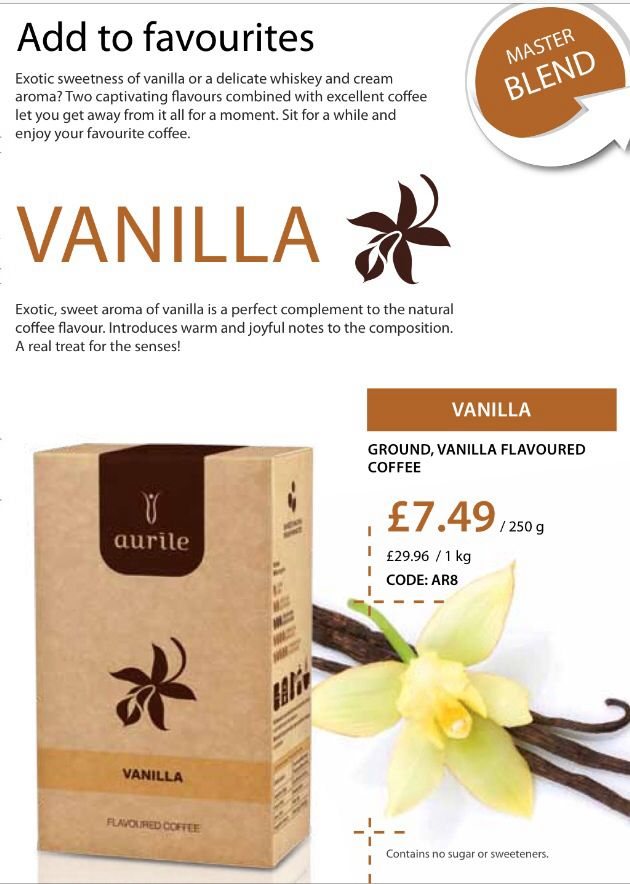 Vanilla flavour Aurile coffee, pefect for nice warm drink xx #somersetfm #aurile
