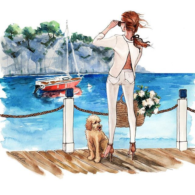 WEBSTA @ inslee - ! August calendar girl bids you a morning of smooth sailing. Look familiar? Yes, she's inspired by lovely…