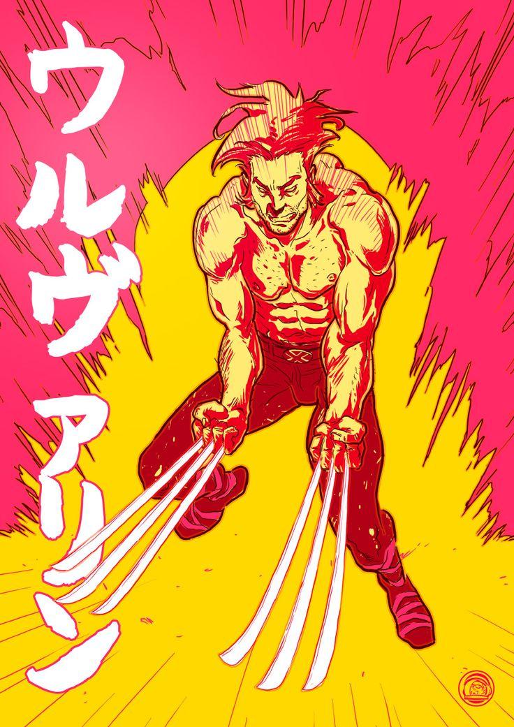 ウルヴァリン Wolverine's fanart…   I'm studing some variant about palette and typography…maybe a new tshirt design for society6 :)   Stay tuned…