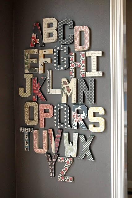 Wall Alphabet - Home Decor... I love type :)