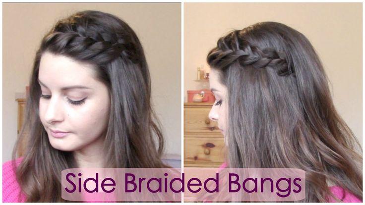 Side braided bangs/fringe