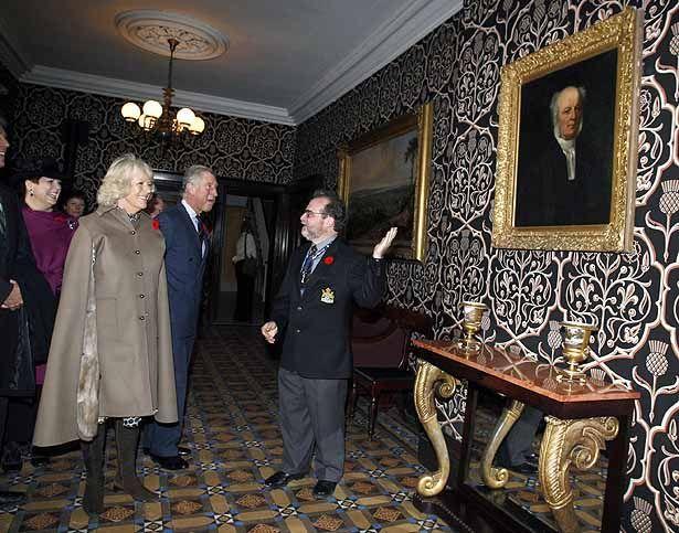 Royal visit at Dundurn Castle. Camilla is related to Sir Allan MacNab.