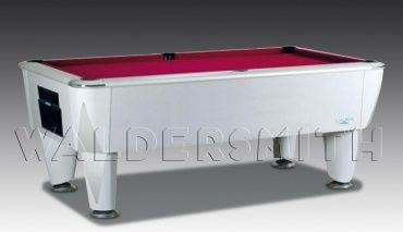 7ft Artique Silver English Pool Table - The Artique Silver has been engineered to perfection: a soundproofed Proactive cusion system provides the most consistent ball response possible during the game, and the playing area is bordered by smart chrome corner plates on the top frame. A strong build, smooth style and superb game-play all help cement the Artique's status as a premier English pool table, and the one that's used for all major English pool tournaments in both the UK and Europe.