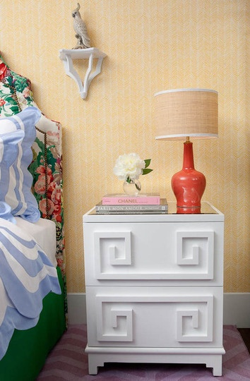 Cute nightstands white lacquer campaign chests shaker for Cute nightstand ideas