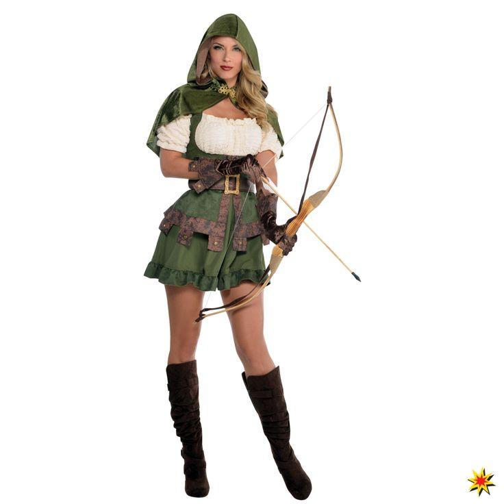 Sexy Damen Kostüm Robin Hood Lady