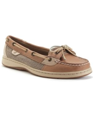 The Sperry Top-Sider Angelfish boat shoes have all the classic quality and details of the preppy chic favorite with the updated appeal of new finishes and colors. | Imported | Leather/fabric upper; Py