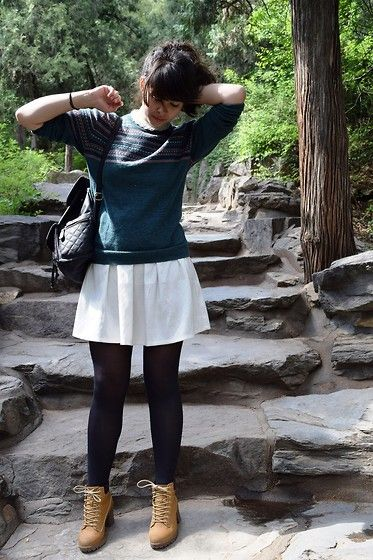 Get this look: http://lb.nu/look/7417970  More looks by Lauren Evans: http://lb.nu/pollzable  Items in this look:  Primark Jumper, Afflecks Palace Dress, Primark Boots, H&M Bag   #beijing #summerpalace #china #britishblogger #travel #summer2015