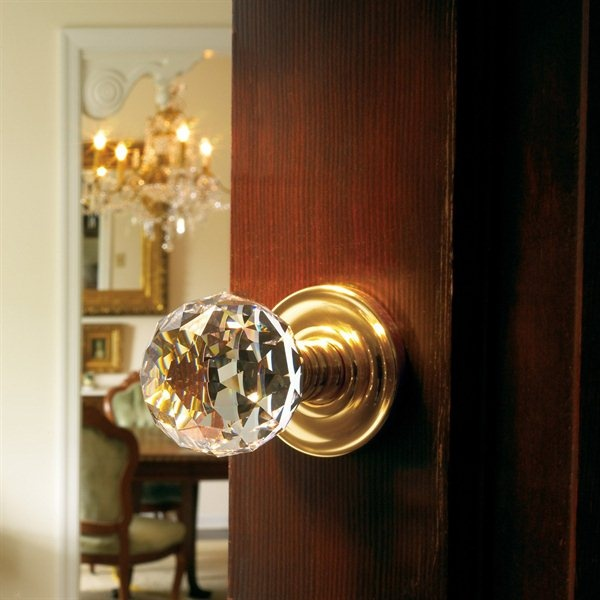 Baldwin Hardware 5009 Swarovski Crystal Knob Indoor Door Handle   ATG Stores