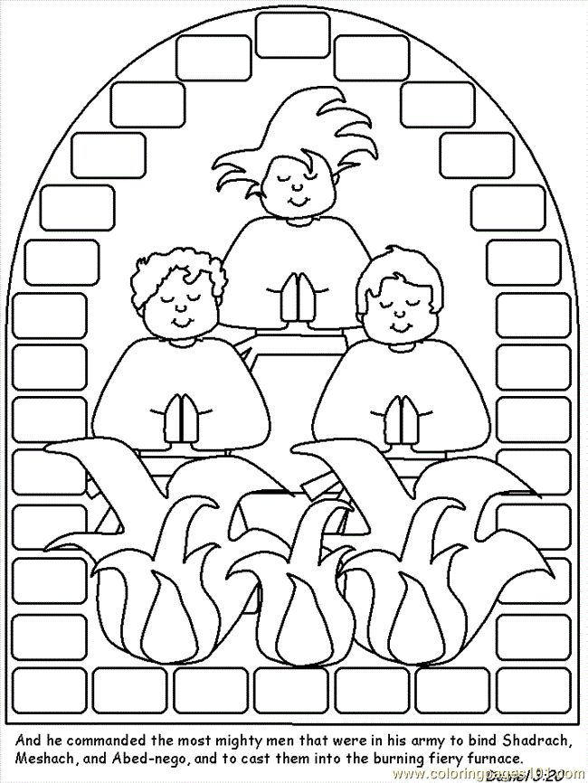 Free Printable Coloring Image Shadrach Meshach And Abednego