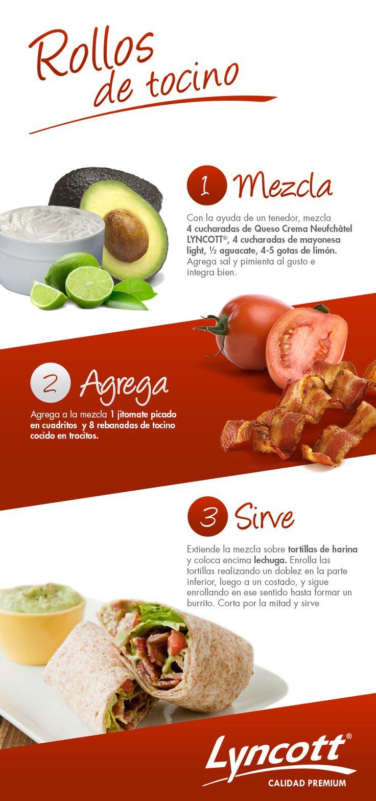 Rollos de tocino.  #rollos #tocino #receta #comida