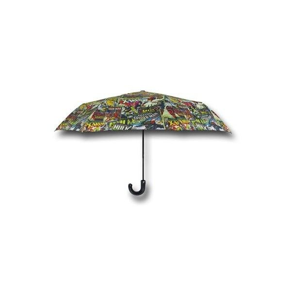 Marvel Comics Umbrella (83 BRL) ❤ liked on Polyvore featuring accessories, umbrellas, the avengers, umbrellas & boxes, comic book, cocktail umbrellas, silver umbrella, marvel comics and dome umbrella