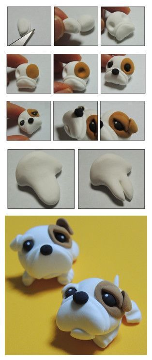 Cold Porcelain Tutorials: Cute Critter Week ~ Bulldog Tutorial