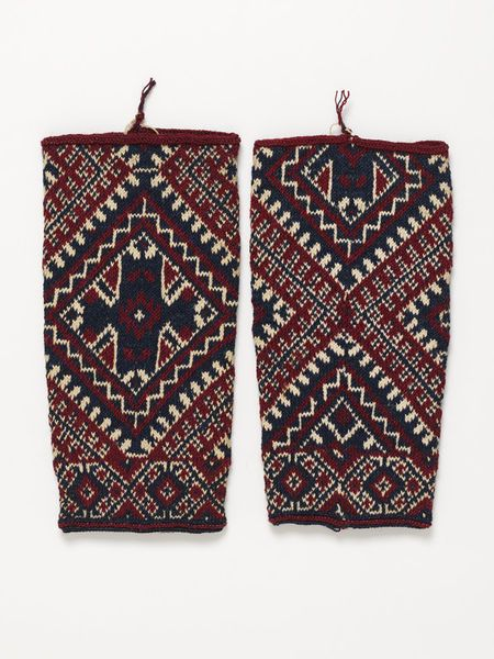 Knitted wool and cotton leg warmers, Greece, 1960's l Victoria and Albert Museum #knitting #fashion