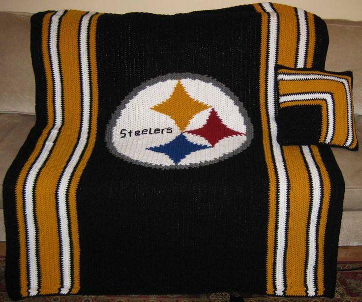 Steelers Blanket - Crochet Chart Pattern