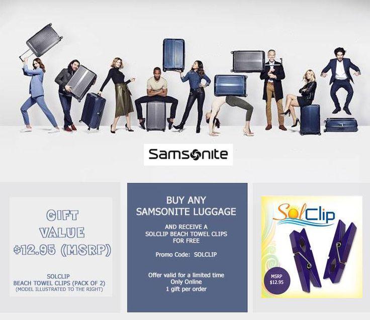 Free Gift - Samsonite Luggage