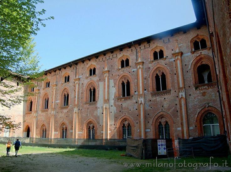 Detail of the Sforza Castle in Vigevano (Milan, Italy)