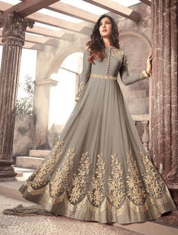 8b18585a47 Eid Dress sale Embroidery Indian Pakistani Bollywood Wedding Long Anarkali  Gown #Handmade #Anarkali#culture #custom #trousseau #wedding #blouse  #embroidery ...