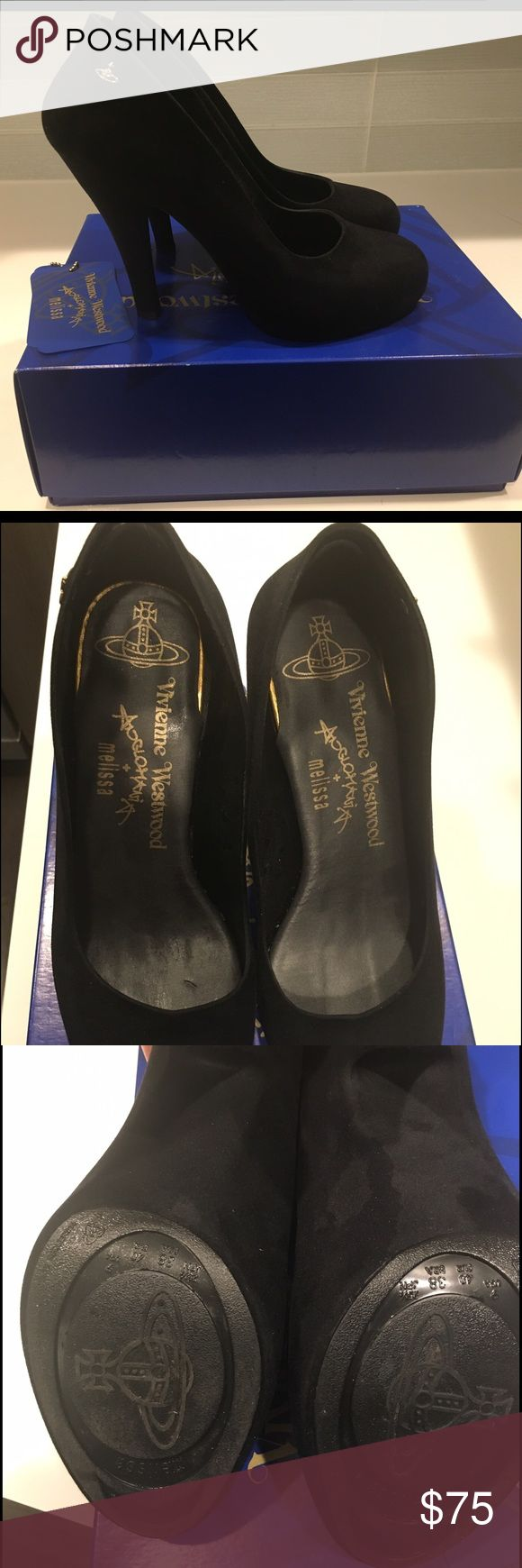 Vivienne Westwood Anglomania Melissa Classic black heels in Size 9. EU size 38. Worn twice, from a smoke free, pet free home.  Originally paid $175.00. Vivienne Westwood Shoes Heels