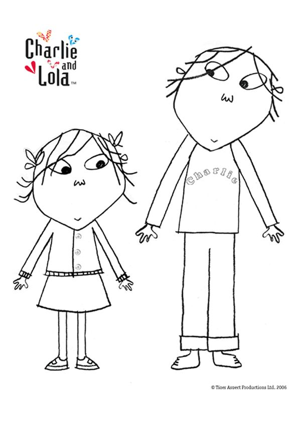 Free Online Charlie Amp Lola Colouring Page All Things