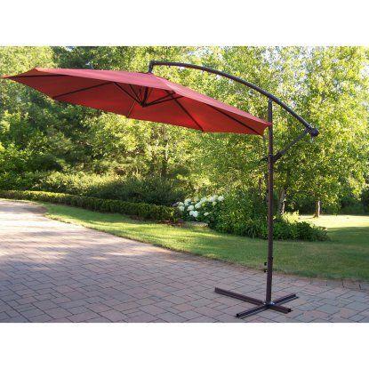 Cantilever Umbrella With Fillable Polyresin Heavy Duty Stand   Patio  Umbrellas