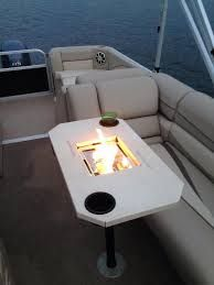 Image result for pontoon fire pit table