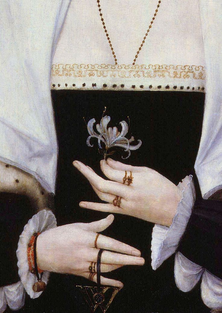 Portrait of a woman said to be Margaret Pole, Countess of Salisbury, Detail