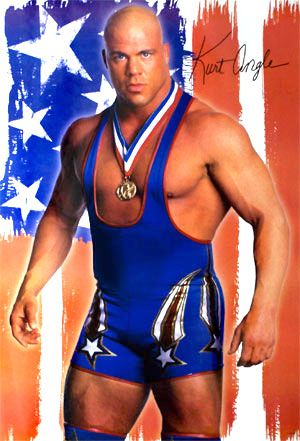 "Kurt Angle: ""the first Olympic gold medalist in WWE and TNA history."""