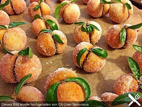 Pfirsiche-Kekskonfekt aus Siebenbürgen