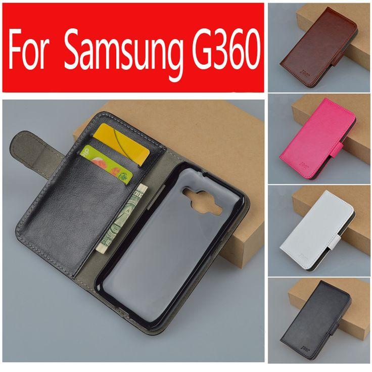 J&R Brand For Samsung Galaxy Core Prime Prevail LTE G360 G360F G360H G361 G361F G361H SM-G361F Wallet PU Flip Leather Cases