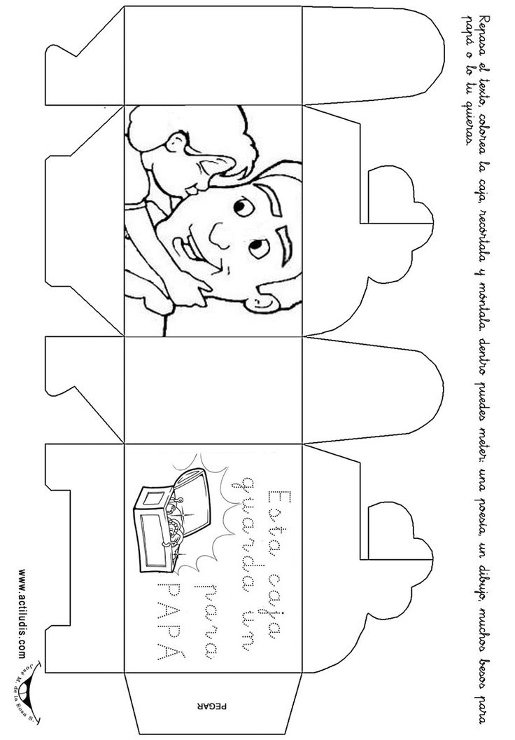 Maestra de Infantil Tarjetas para colorear en el da del padre cgg