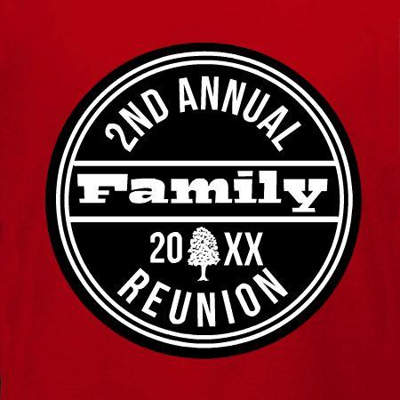 Annual Family Reunion T Shirt Design Idea And Customizable Template.
