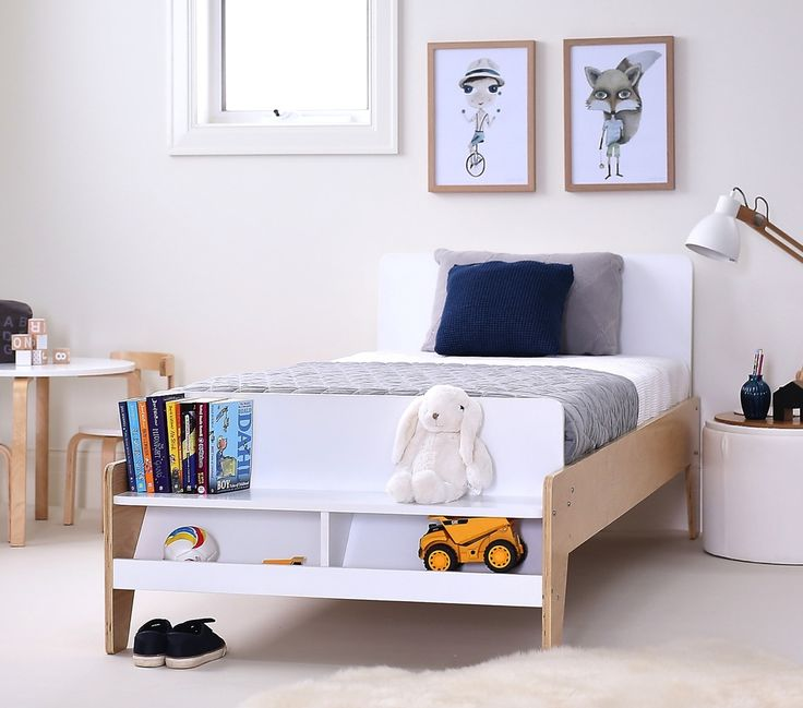 This modern single wooden bed w/ storage not only looks stylish but also has the added feature of a bed end seat & handy storage compartment ideal for storing shoes, books, toys etc