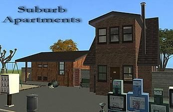 Mod The Sims - Suburb Apartments - 2 trashy, shabby Apartments ;)