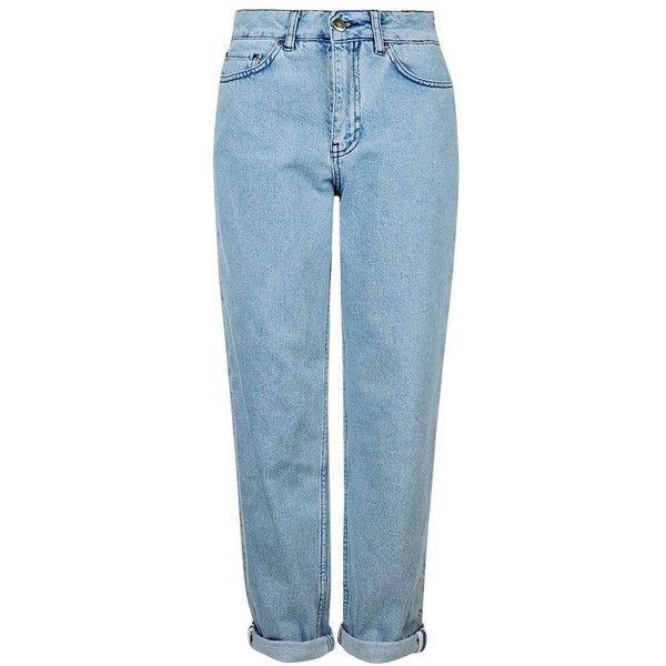 Women's Topshop Boutique Boyfriend Jeans (230 TND) ❤ liked on Polyvore featuring jeans, pants, bottoms, pantalones, light wash jeans, blue jeans, topshop jeans, boyfriend jeans and boyfriend fit jeans