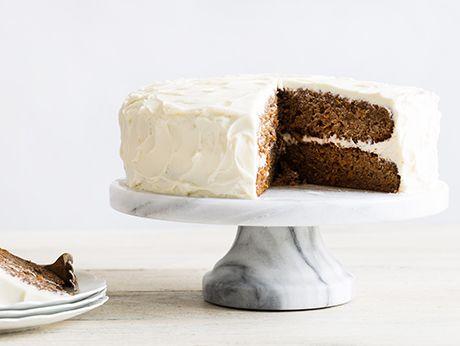 Carrot Cake with Cream Cheese Frosting Recipe    Epicurious.com