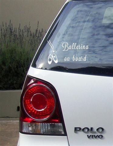 Ballerina Vinyl Vehicle Sticker
