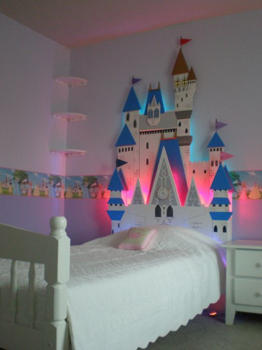 I don't like this style but could it be neat to have a castle headboard ? Maybe all white?