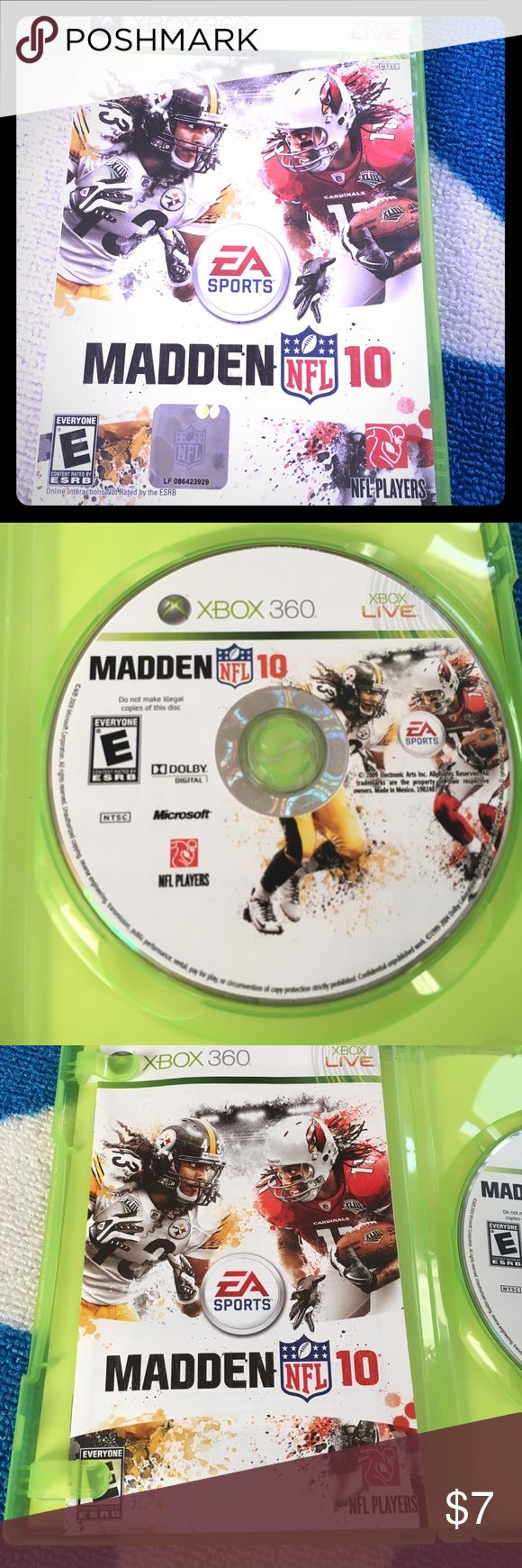 NFL Madden 10 Xbox 360 Can connect to Xbox live Xbox 360 Other
